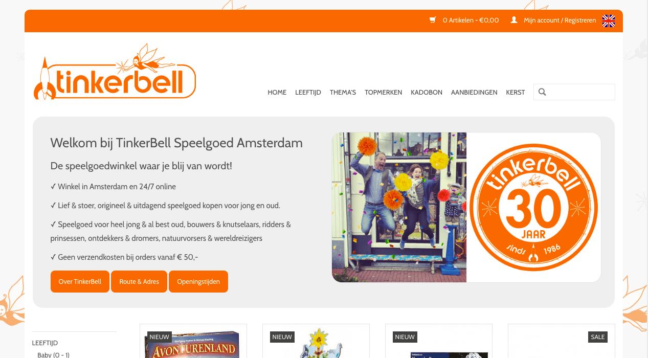 Homepage Tinkerbelltoys Amsterdam
