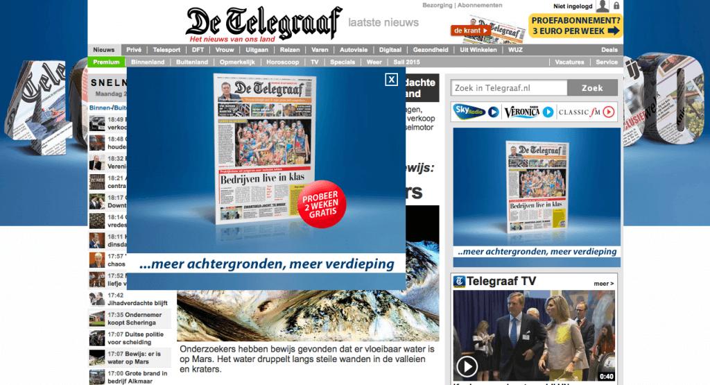 Telegraaf Jubileum Campagne