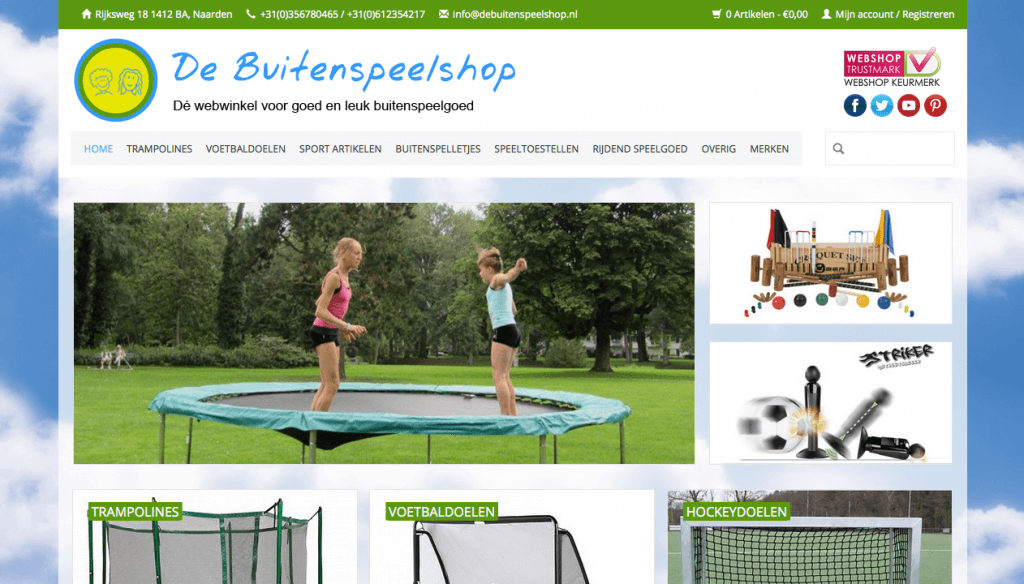 Homepage De Buitenspeelshop