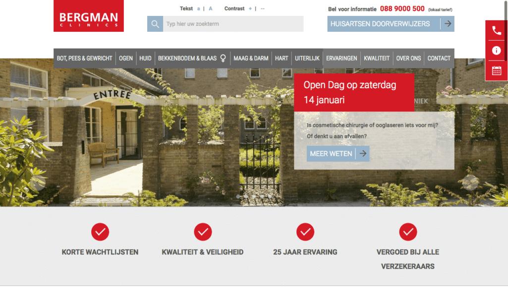 Homepage Bergman Clinics