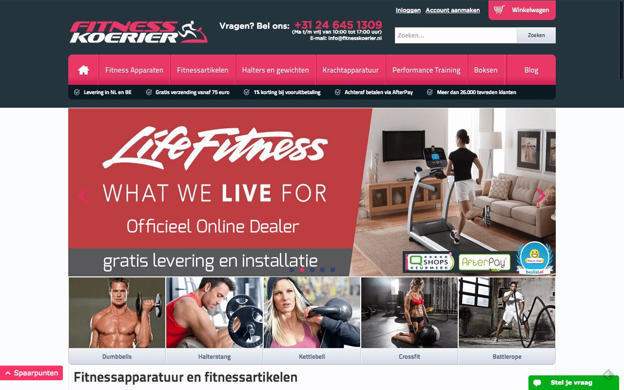 Homepage Fitnesskoerier