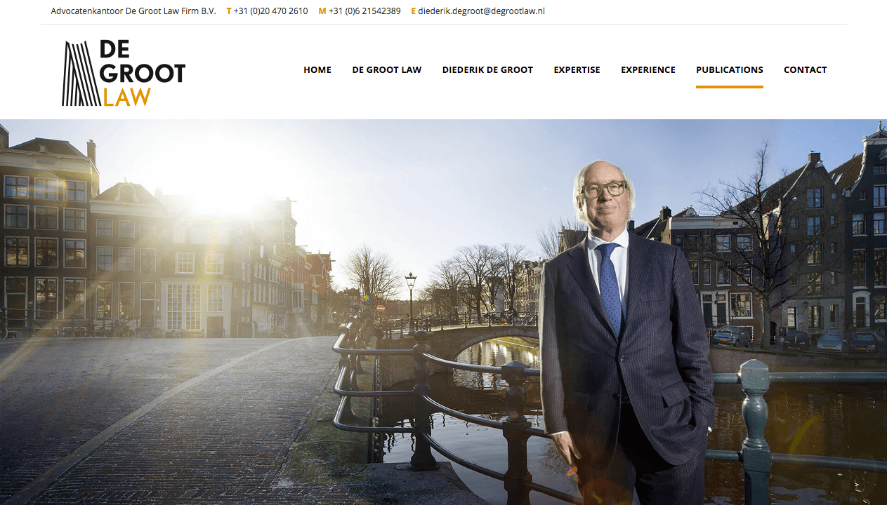 Homepage De Groot Law | Webdesign By Pingwin