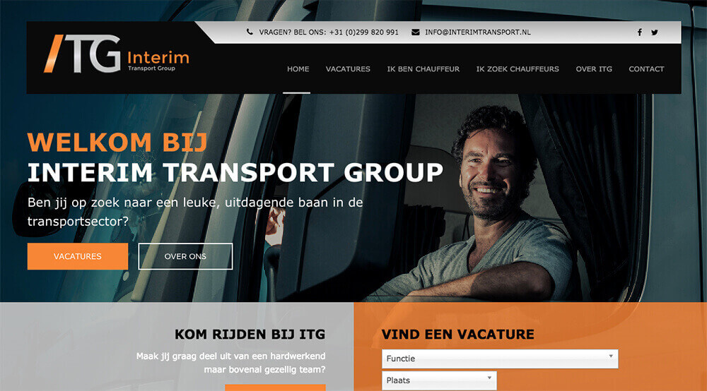 Homepage Interim Transport Group