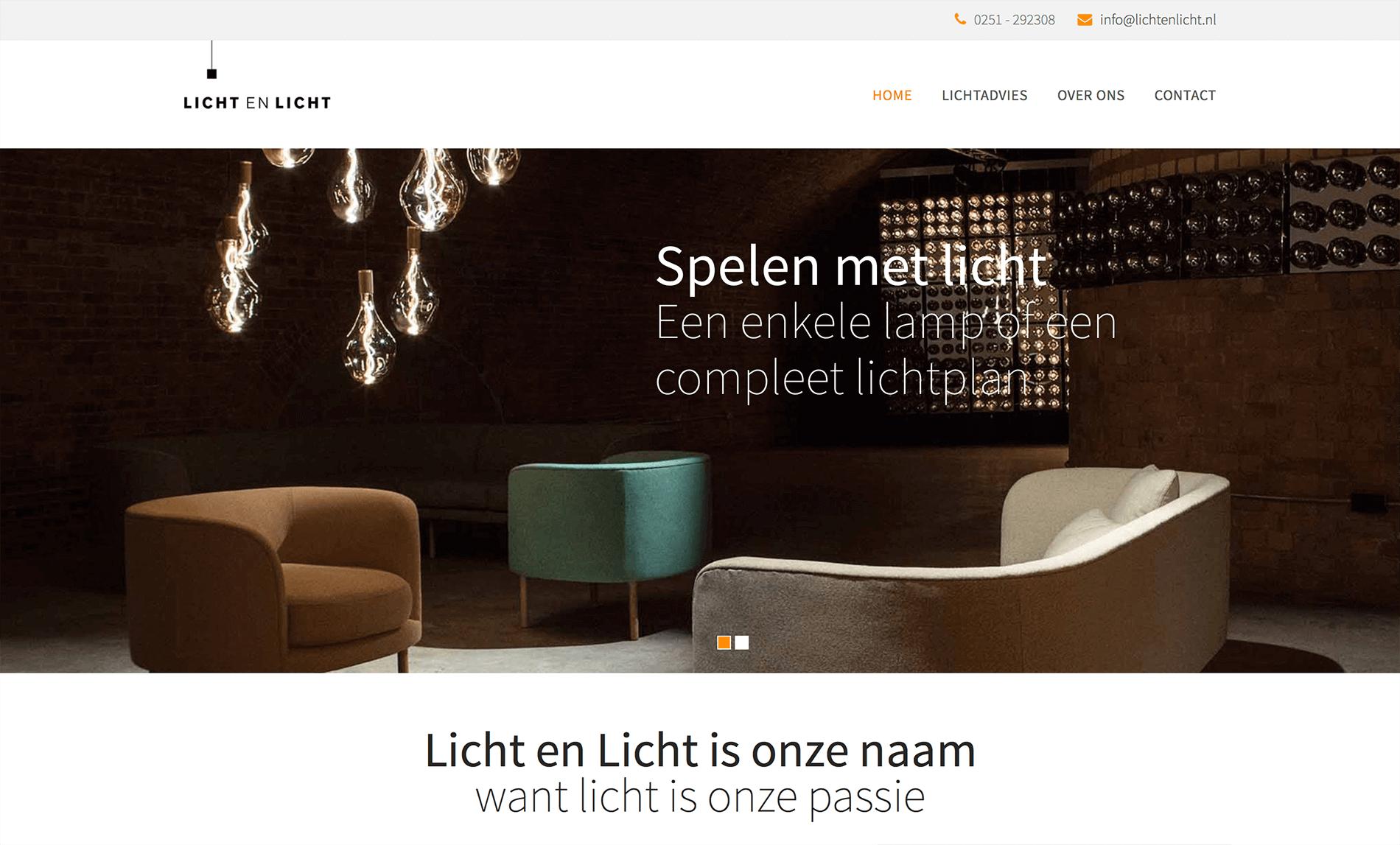 Homepage licht en licht