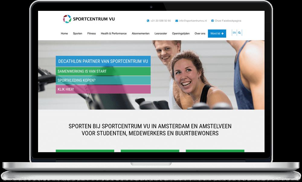 Webdesign Sportcentrum VU